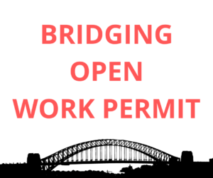 Bridging open work permit for permanent residence applicants
