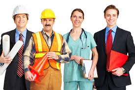 workers in different occupations